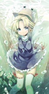 Rating: Safe Score: 34 Tags: moriya_suwako niwashi thighhighs touhou User: Mr_GT