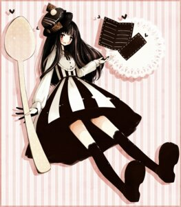 Rating: Safe Score: 10 Tags: dress mikuri_yoru thighhighs User: hobbito
