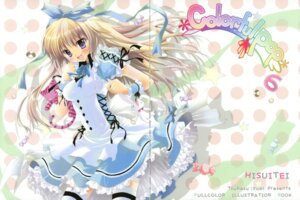 Rating: Safe Score: 38 Tags: alice alice_in_wonderland dress fixme gap hisuitei izumi_tsubasu thighhighs User: crim