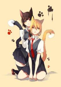 Rating: Safe Score: 27 Tags: animal_ears nekomimi seifuku tail tsukimoto_aoi User: MadMan