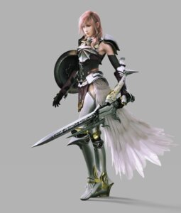 Rating: Safe Score: 44 Tags: armor cg final_fantasy final_fantasy_xiii final_fantasy_xiii-2 lightning square_enix sword thighhighs User: Izuna