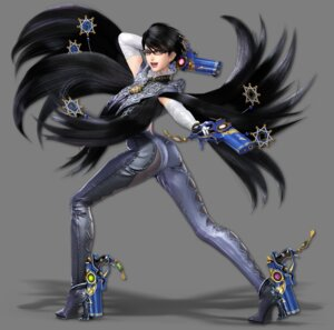 Rating: Questionable Score: 10 Tags: ass bayonetta bayonetta_(character) bayonetta_2 bodysuit gun heels megane sega super_smash_bros. transparent_png User: fly24