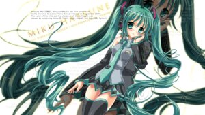 Rating: Safe Score: 11 Tags: hatsune_miku thighhighs vocaloid wallpaper yukiaki User: Lore
