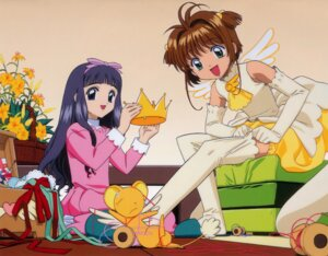 Rating: Safe Score: 13 Tags: card_captor_sakura daidouji_tomoyo dress kerberos kinomoto_sakura thighhighs undressing wings User: syaoran-kun