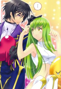 Rating: Safe Score: 20 Tags: binding_discoloration c.c. cheese-kun code_geass color_issue creayus lelouch_lamperouge rangetsu thighhighs User: Aurelia