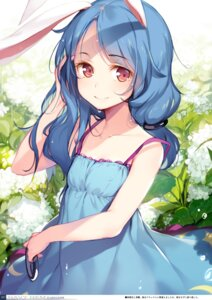 Rating: Safe Score: 31 Tags: animal_ears bunny_ears digital_version dress gekidoku_shoujo ke-ta seiran_(touhou) summer_dress touhou User: fireattack