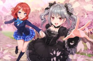 Rating: Safe Score: 29 Tags: crossover dress gothic_lolita kanzaki_ranko lolita_fashion love_live! nishikino_maki piyoyanagi seifuku the_idolm@ster the_idolm@ster_cinderella_girls User: Mr_GT