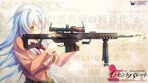 Rating: Safe Score: 50 Tags: cinematograph eyepatch gun innocent_bullet miyasu_sanae oosaki_shinya seifuku wallpaper User: Communist