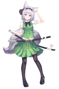 Rating: Safe Score: 20 Tags: konpaku_youmu shiro_(acad1213) sword tagme thighhighs touhou User: Dreista