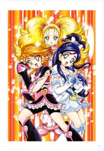 Rating: Safe Score: 4 Tags: bike_shorts dress futari_wa_pretty_cure heels kamikita_futago kujou_hikari misumi_nagisa pretty_cure yukishiro_honoka User: drop