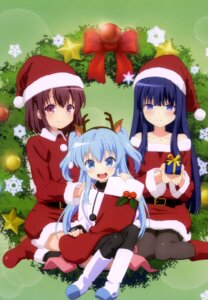 Rating: Questionable Score: 51 Tags: animal_ears christmas dress horns komiya_nonoka noel_(sora_no_method) pantyhose sora_no_method thighhighs togawa_shione User: drop
