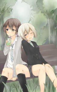 Rating: Safe Score: 31 Tags: erica_hartmann gertrud_barkhorn hatsumi_nekuta seifuku strike_witches User: Radioactive