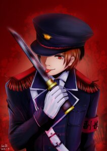 Rating: Safe Score: 6 Tags: gintama heavenlove male okita_sougo uniform weapon User: charunetra