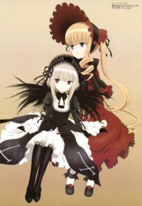 Rating: Safe Score: 43 Tags: gothic_lolita lolita_fashion rozen_maiden shinku suigintou ueda_kazuyuki User: drop