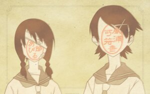 Rating: Safe Score: 4 Tags: fuura_kafuka kobushi_abiru sayonara_zetsubou_sensei wallpaper watermark User: Radioactive