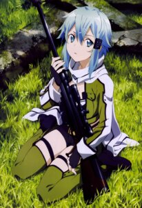 Rating: Safe Score: 42 Tags: cleavage duplicate gun gun_gale_online ochiai_hitomi sinon sword_art_online thighhighs User: _Astara