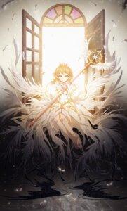 Rating: Safe Score: 28 Tags: card_captor_sakura dress kinomoto_sakura lengchan weapon wings User: charunetra