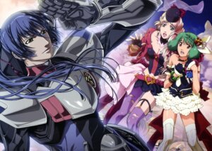 Rating: Safe Score: 7 Tags: macross macross_frontier marufuji_hirotaka ranka_lee saotome_alto screening sheryl_nome thighhighs User: Ravenblitz