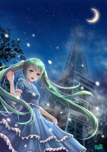 Rating: Safe Score: 30 Tags: byakuya_reki dress hatsune_miku vocaloid User: Romio88