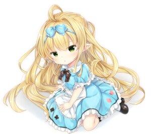 Rating: Safe Score: 17 Tags: alice alice_in_wonderland cosplay dress granblue_fantasy melissabelle_(granblue_fantasy) pointy_ears shizukawashi_sumi User: BattlequeenYume