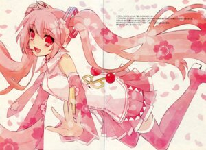 Rating: Safe Score: 11 Tags: fixme fujitsubo-machine gap hatsune_miku ito_noizi paper_texture sakura_miku scanning_resolution thighhighs vocaloid User: Share
