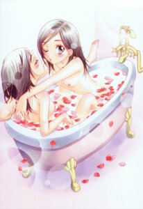 Rating: Questionable Score: 32 Tags: bathing morinaga_milk naked nipples yuri User: midzki