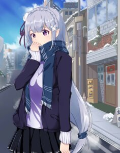 Rating: Safe Score: 60 Tags: emilia_(re_zero) pointy_ears re_zero_kara_hajimeru_isekai_seikatsu sweater User: Ayanoreku