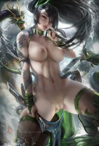 Rating: Explicit Score: 151 Tags: akali fishnets league_of_legends monster naked nipples pussy sakimichan tagme tattoo thighhighs uncensored weapon User: BattlequeenYume