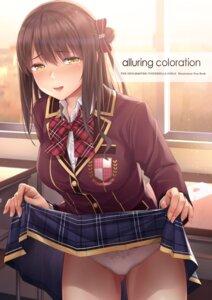 Rating: Questionable Score: 42 Tags: pantsu seifuku shimamura_uzuki skirt_lift the_idolm@ster the_idolm@ster_cinderella_girls umihotaru_harumare User: AnoCold