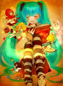 Rating: Safe Score: 9 Tags: alice_in_wonderland chibi cosplay dress hatsune_miku hiyoyogi pantyhose vocaloid User: MyNameIs