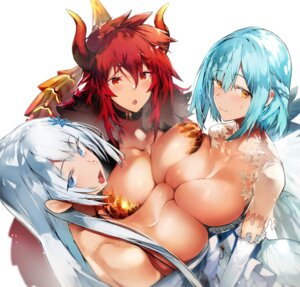 Rating: Questionable Score: 51 Tags: breasts dola_(nijisanji) garakuta horns moira_(nijisanji) nijisanji nijisanji_gamers nijisanji_seeds no_bra open_shirt setsuna_(nijisanji) symmetrical_docking tail wings User: BattlequeenYume