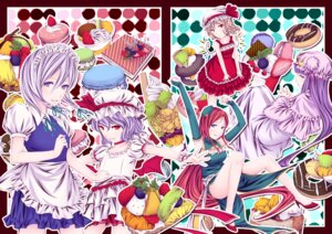 Rating: Safe Score: 5 Tags: ayasaka flandre_scarlet hong_meiling izayoi_sakuya patchouli_knowledge remilia_scarlet touhou User: Mr_GT