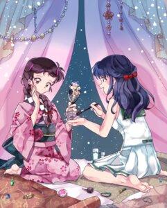 Rating: Safe Score: 10 Tags: feet higurashi_kagome inuko_(pixiv_6096383) inuyasha kimono sango seifuku User: charunetra