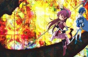 Rating: Safe Score: 13 Tags: kishida_takahiro miki_sayaka puella_magi_madoka_magica sakura_kyouko sword User: Pilad