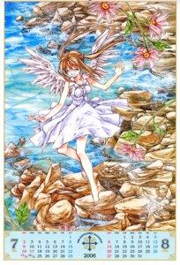 Rating: Safe Score: 8 Tags: calendar dress otomiya_haine shinshi_doumei_cross tanemura_arina wings User: syaoran-kun