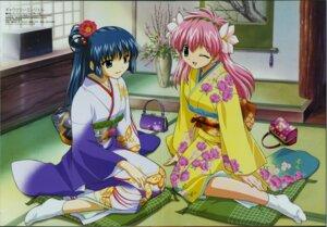 Rating: Safe Score: 10 Tags: fujita_mariko galaxy_angel karasuma_chitose kimono milfeulle_sakuraba User: Radioactive