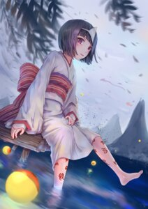 Rating: Safe Score: 37 Tags: jay_xu kimono nora noragami tattoo wet User: Mr_GT