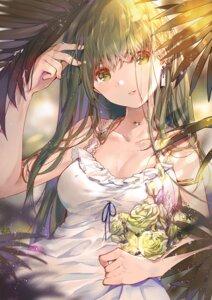 Rating: Safe Score: 48 Tags: cleavage dress elise_(piclic) kochiya_sanae summer_dress touhou User: Mr_GT