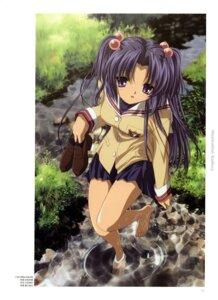 Rating: Safe Score: 10 Tags: clannad feet ichinose_kotomi ikeda_kazumi seifuku User: Roc-Dark