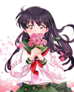 Rating: Safe Score: 13 Tags: higurashi_kagome inuko_(pixiv_6096383) inuyasha seifuku User: charunetra