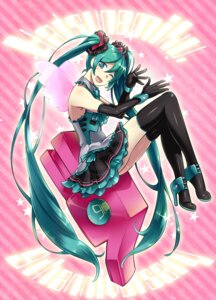 Rating: Safe Score: 19 Tags: caffein hatsune_miku heels thighhighs vocaloid wings User: Mr_GT