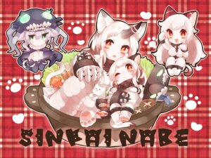 Rating: Safe Score: 13 Tags: airfield_hime animal_ears chibi horns i-class_destroyer kaenuco kantai_collection neko nekomimi northern_ocean_hime seaport_hime shinkaisei-kan tail wo-class_aircraft_carrier User: sealplayerz