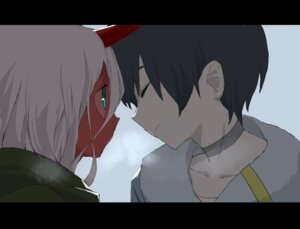 Rating: Safe Score: 15 Tags: darling_in_the_franxx hiro_(darling_in_the_franxx) horns tagme zero_two_(darling_in_the_franxx) User: Spidey