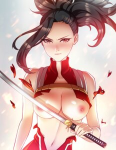 Rating: Questionable Score: 63 Tags: boku_no_hero_academia breasts nipples no_bra pinkladymage sword torn_clothes yaoyorozu_momo User: Mr_GT