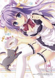 Rating: Safe Score: 81 Tags: animal_ears chericot_rozel cleavage maid matsumiya_kiseri neko nekomimi stockings thighhighs User: DDD
