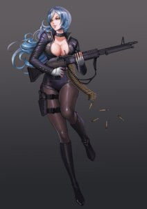 Rating: Safe Score: 54 Tags: cleavage dantewontdie gun no_bra open_shirt pantyhose User: Mr_GT
