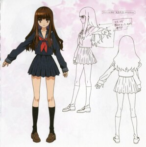 Rating: Safe Score: 10 Tags: bleed_through character_design fate/extra fate/extra_ccc fate/stay_night female_protagonist_(fate/extra) kishinami_hakuno paper_texture seifuku type-moon User: DDD