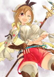 Rating: Safe Score: 20 Tags: atelier atelier_ryza inaba_shiro reisalin_stout see_through thighhighs weapon wet wet_clothes User: mash