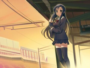 Rating: Safe Score: 13 Tags: katsura_kotonoha school_days seifuku tam-u thighhighs User: animeprincess