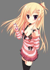 Rating: Safe Score: 62 Tags: cleavage hontani_kanae thighhighs transparent_png vector_trace User: skyscraper